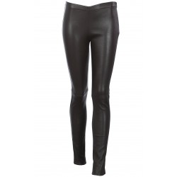 LEGGING CUIR STRETCH CHOCOLAT