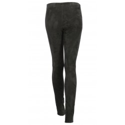 LEGGING CUIR SUEDE STRETCH ANTHRACITE