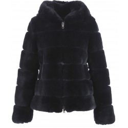 62195 - BLUE REAL FUR JACKET