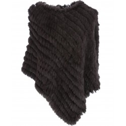 PONCHO FOURRURE MARRON