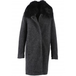 62132 - MANTEAU LONG MOHAIR GRIS