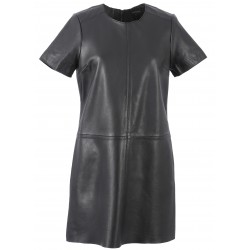 62225 - BLACK LEATHER DRESS