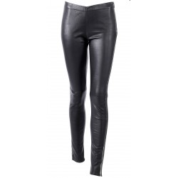 62377 - LEGGING CUIR STRETCH NOIR