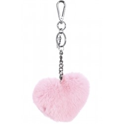 62157 - CANDY FUR HEART LUXURY KEYRING