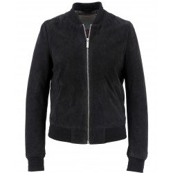 62340 - NAVY SUEDE LEATHER JACKET