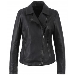 62260 - BLACK LEATHER JACKET