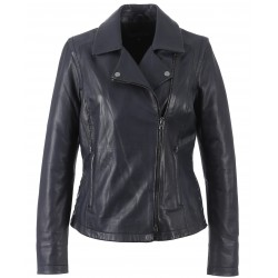 62260 - DARK BLUE LEATHER JACKET