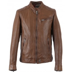 62367 - TAN LEATHER JACKET