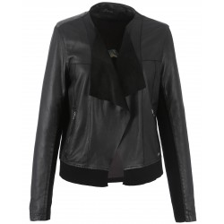 62266 - BLACK LEATHER JACKET