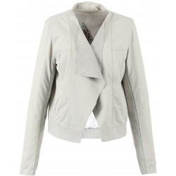 62266 - WHITE LEATHER JACKET