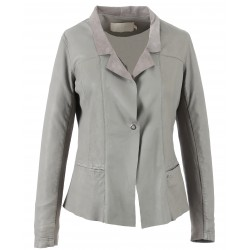 62264 -GREY LEATHER JACKET