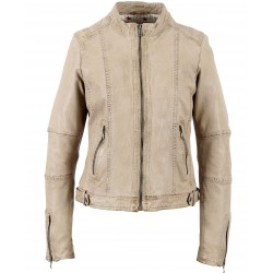 62365 - BEIGE LEATHER JACKET