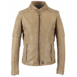62293 - BEIGE LEATHER JACKET