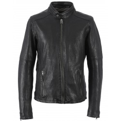 62293 - BLACK LEATHER JACKET