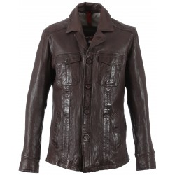 62360 - WHISKY LEATHER JACKET