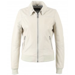 62324 - WHITE LEATHER JACKET
