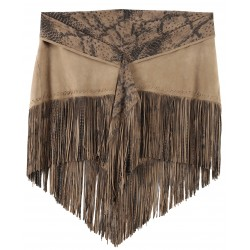 61918 - SHAWL WITH FRINGES BEIGE