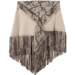 61918 - SHAWL WITH FRINGES LIGHT PINK