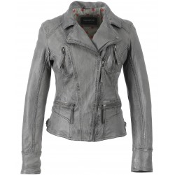 60861 - ASYMETRIC BIKER JACKET ANTHRACITE