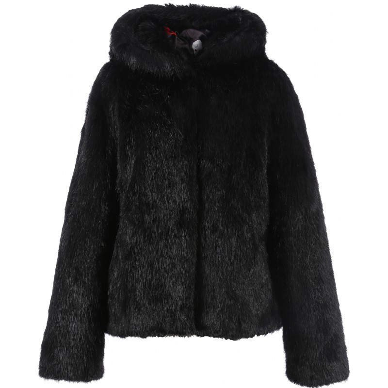 62407 veste capuche fausse fourrure noir oakwood the. Black Bedroom Furniture Sets. Home Design Ideas