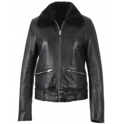 62563 - BLACK LEATHER JACKET