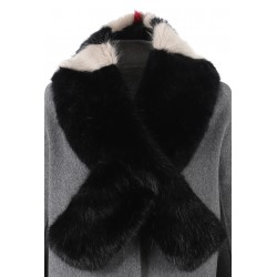 62411 - TRI-COLOR FUR SCARF SOLO