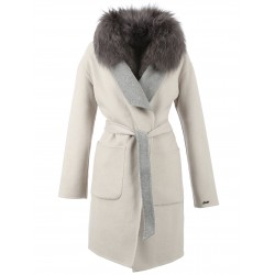 62645 - IVORY REVERSIBLE COAT COLOMBUS