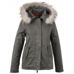 62382 - GREY FUR HOODED PARKA GREY CHIARA