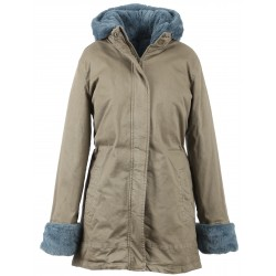 62388 - ICE BLUE FAKE FUR LIGHT KHAKI PARKA PLANET