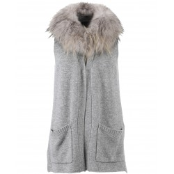 62642 - GILET WEEKLY LAINE GRIS FONCE