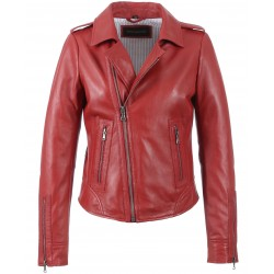 62325 - RED LEATHER JACKET