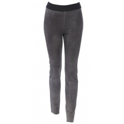 61938 - LEGGING LEATHER SUEDE STRETCH GREY