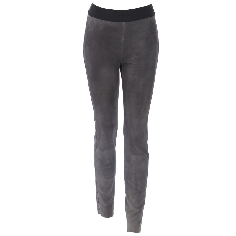 61938 legging cuir suede stretch gris oakwood the leather brand. Black Bedroom Furniture Sets. Home Design Ideas