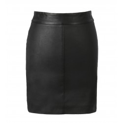LILI (REF. 63242) BLACK - STRETCH GENUINE LEATHER PENCIL SKIRT