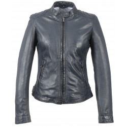 62578 - NAVY BLUE LEATHER JACKET PARADIS