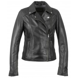 63132 - BLACK LEATHER JACKET MELINA