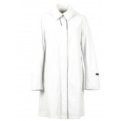 63233 - WHITE SHINY LEATHER COAT QUEEN
