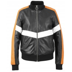 63126 - BLACK LEATHER JACKET CLUBBER