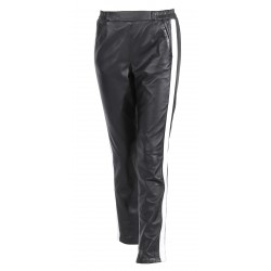 63124 - BLACK LEATHER TROUSERS BELLA