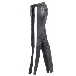 BELLA (REF. 63124) BLACK - GENUINE LEATHER TROUSERS