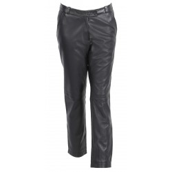 63136 - BLACK LEATHER TROUSERS ULTIME