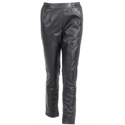 63267 - BLACK LEATHER TROUSERS BELLISSIMA