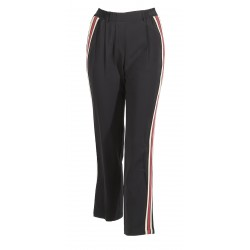 CALL (REF. 63249) BLACK - TROUSERS WITH CONTRASTING BANDS