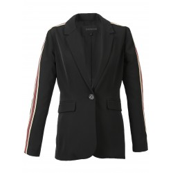 PRETTY (REF. 63253) BLACK - BLAZER WITH CONTRASTING BANDS
