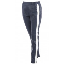 BELLA (REF. 63124) NAVY BLUE - GENUINE LEATHER TROUSERS