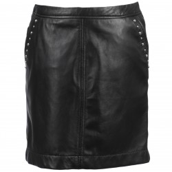 NINON (REF. 63135) BLACK - GENUINE LEATHER SKIRT