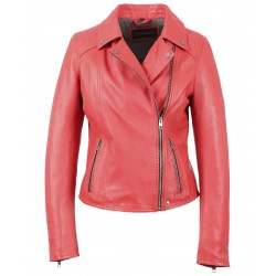 63132 - PLUM LEATHER JACKET MELINA