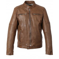 63180 - BLOUSON CUIR MOVIE TAN