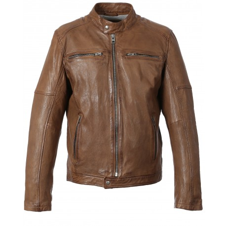 63180 - TAN LEATHER JACKET MOVIE