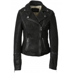 63153 - BLACK NUBUCK JACKET MISTY